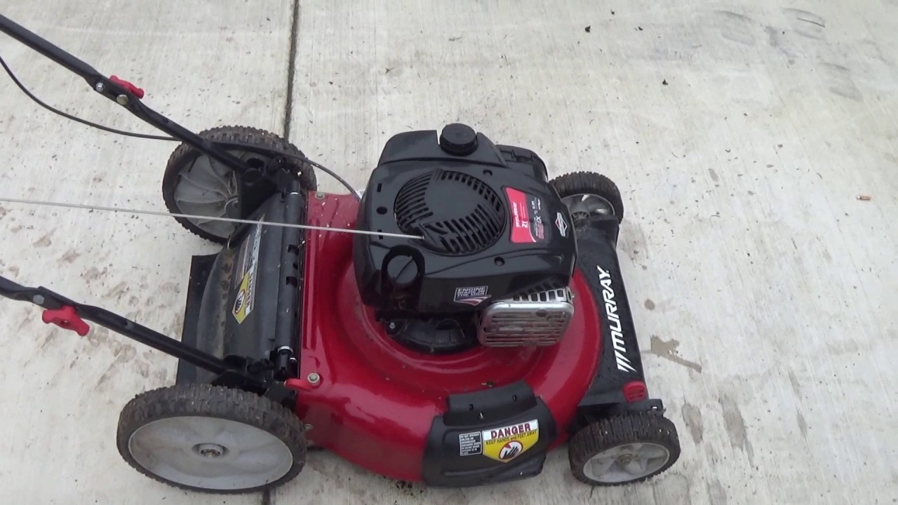 Walmart Lawn Mower After 1 Year Youtube
