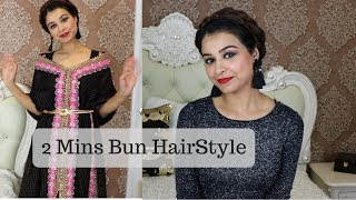 DIY | Quick & Easy Bun Hairstyle | Cute Hairdo in 2 mins