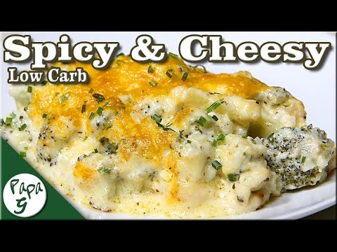 Spicy – Cheesy Broccoli and Riced Cauliflower – Low Carb Keto Casserole