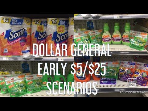 DOLLAR GENERAL EARLY $5/$25 BREAKDOWNS