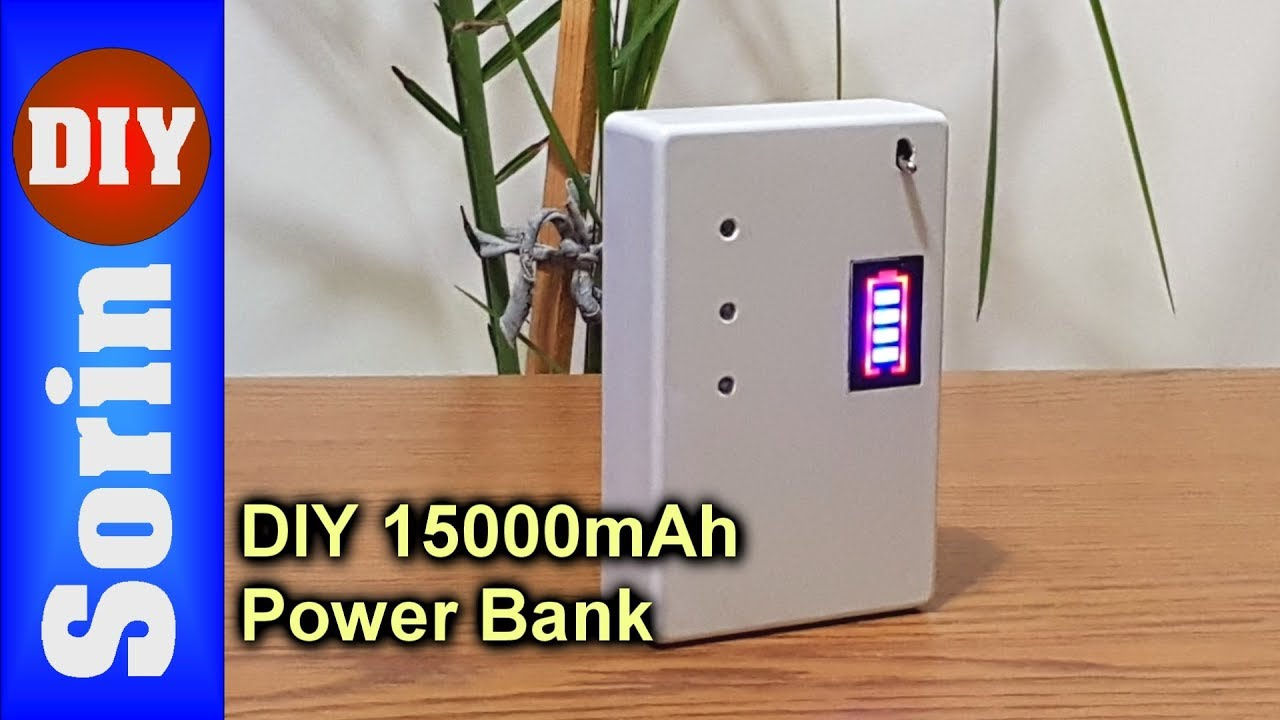 DIY - 15000mAh Power Bank - With Salvaged Batteries (gets charged with 3A)