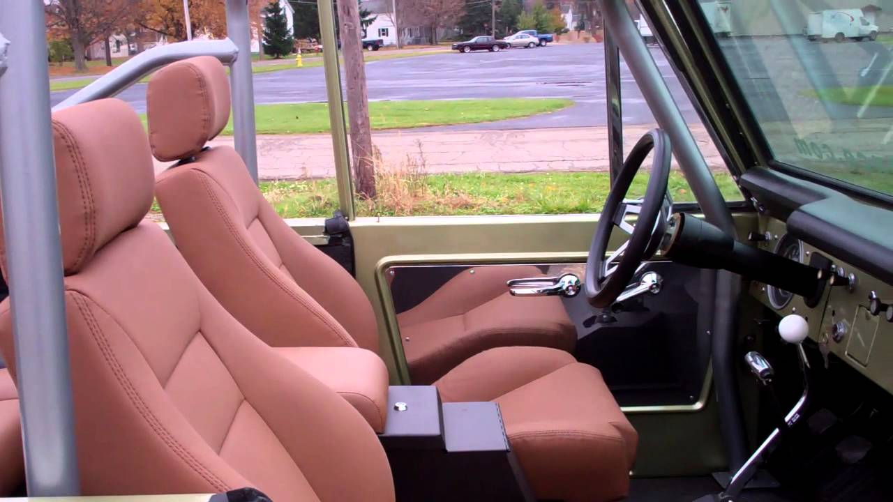 """Ford Bronco 2 >> 1966 Ford Bronco Interior """"Mustang"""" - YouTube"""