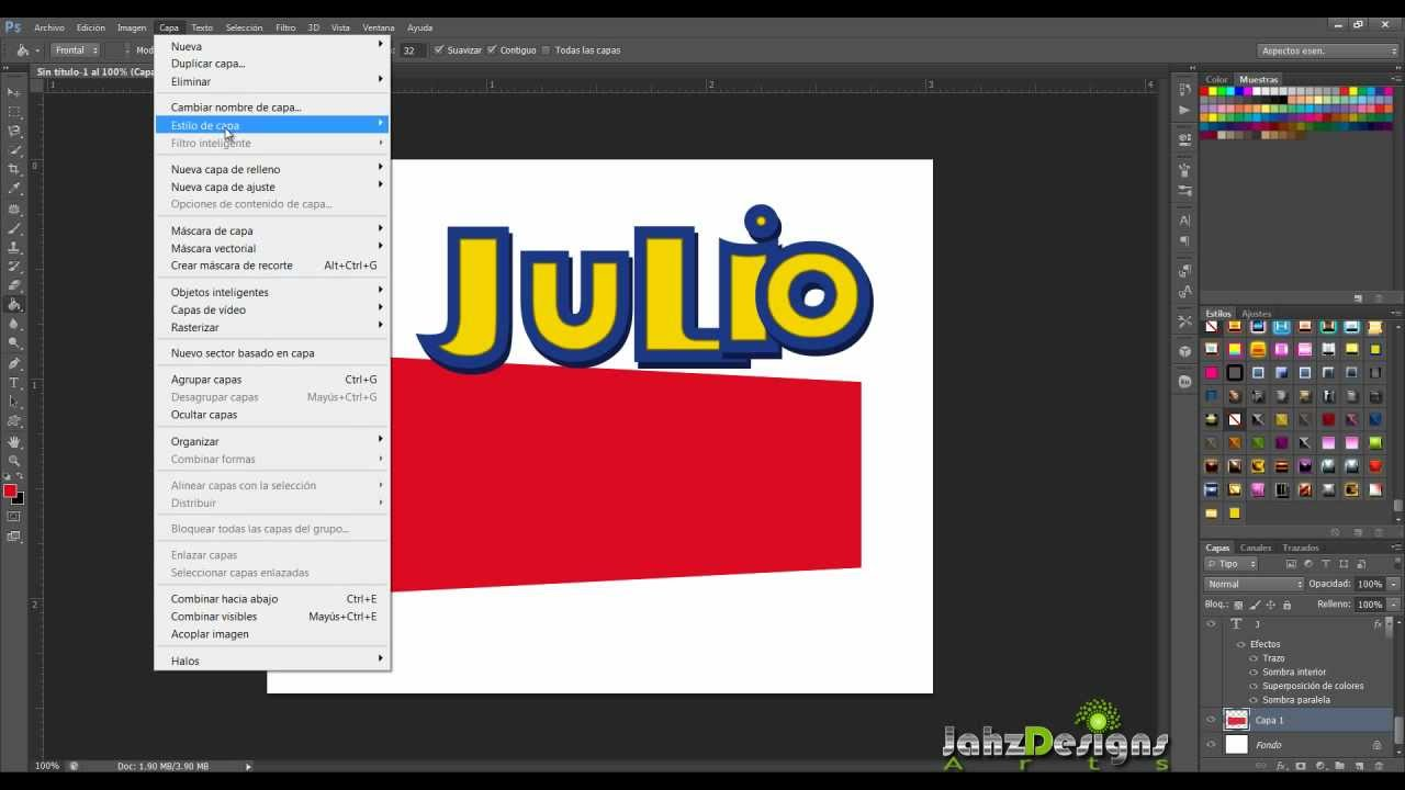 Tutorial Photoshop Logo Toy Story... - YouTube