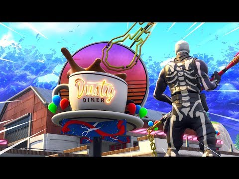 Exploring The New DUSTY DINER in Fortnite..