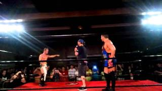 cm punk and colt cabana at aaw wrestling show july 23rd 2011