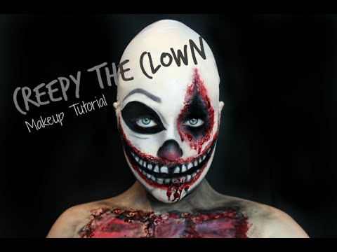 Creepy the Clown Halloween Makeup Tutorial | EMILY LOUISE - YouTube