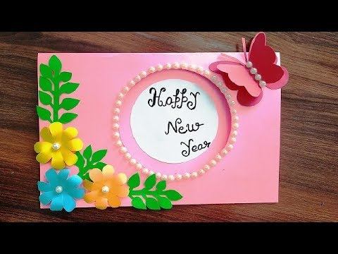 Diy Beautiful Handmade Happy New Year 2020 Card Idea Diy Greeting Cards For New Year Youtube