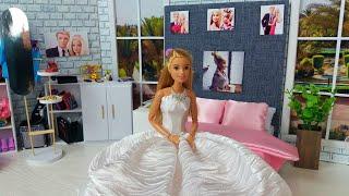 Barbie Ken Boda Mañana Dormitorio Rutina❤️ La vida en una casa de ensueño.Video para niños @Barbie