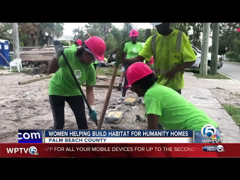 Women help build Habitat For Humanity homes in Palm Beach Co
