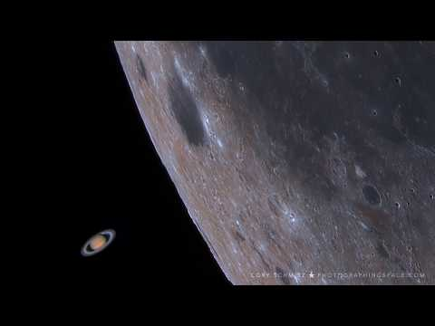 Spectacularly Rare Video Shows Saturn Photobombing The Moon