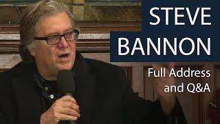 Steve Bannon | Full Address and Q\u0026A | Oxford Union