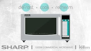 Sharp 1000W Commercial Microwave (279-R21LVF)
