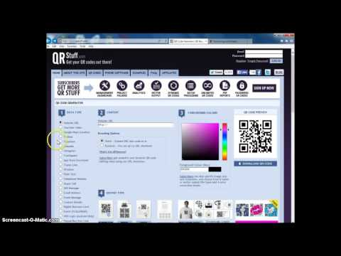 How to make a QR Code (URL/YouTube/Plain Text)