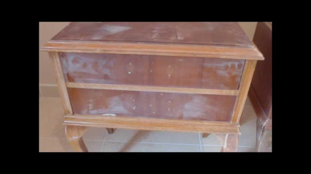 Restauracin de mesillas de madera y melamina  YouTube