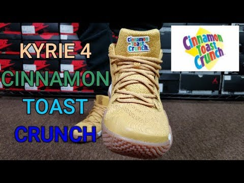 hot sale online ca821 6ab28 KYRIE 4 CTC CINNAMON TOAST CRUNCH REVIEW & ON FEET