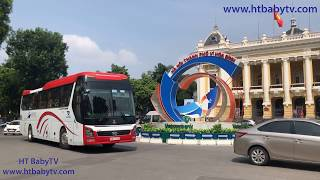 Wheels On The Bus Song 🚌🚌🚌 Bus Ha Noi 11 ❤❤❤ Video For Kids   HT BabyTV ✔︎