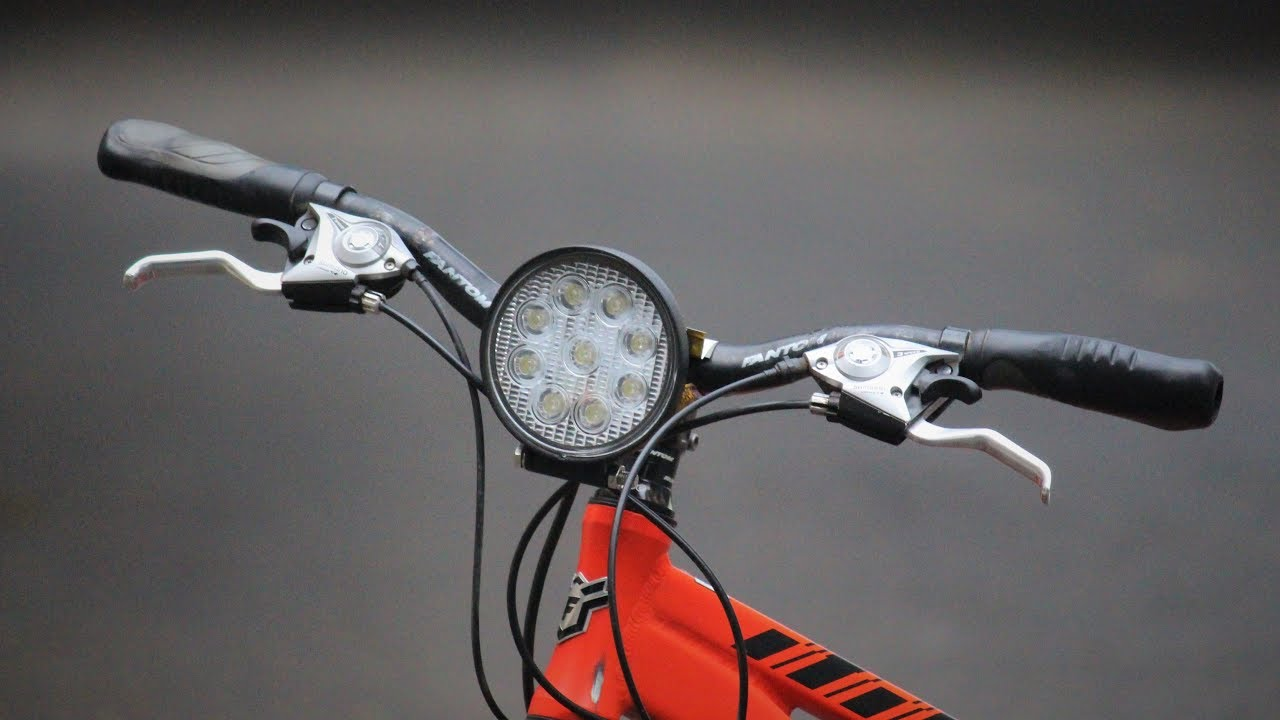 How to make a cycle light at home - YouTube