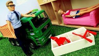 Видео для девочек. Кен и Барби переезжают в дом мечты