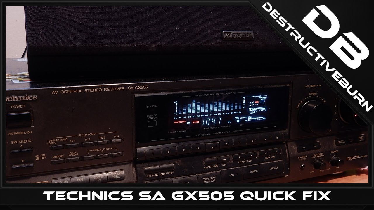 Technics SA GX505 Quick Fix