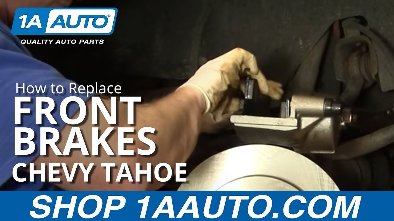 medium resolution of how to install replace front disc brake calipers chevy tahoe 92 99 1aauto com youtube