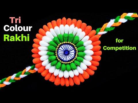 DIY: Indian Tricolour Rakhi | Rakhi making for competition 2019