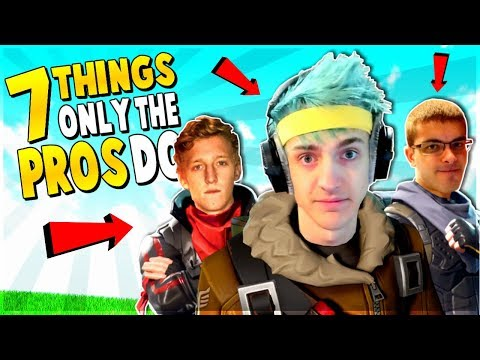 7 Things ONLY the *PROs* DO (How to WIN Fortnite Battle Royale tips)