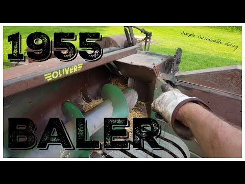 Baling Hay With An Antique Oliver Baler