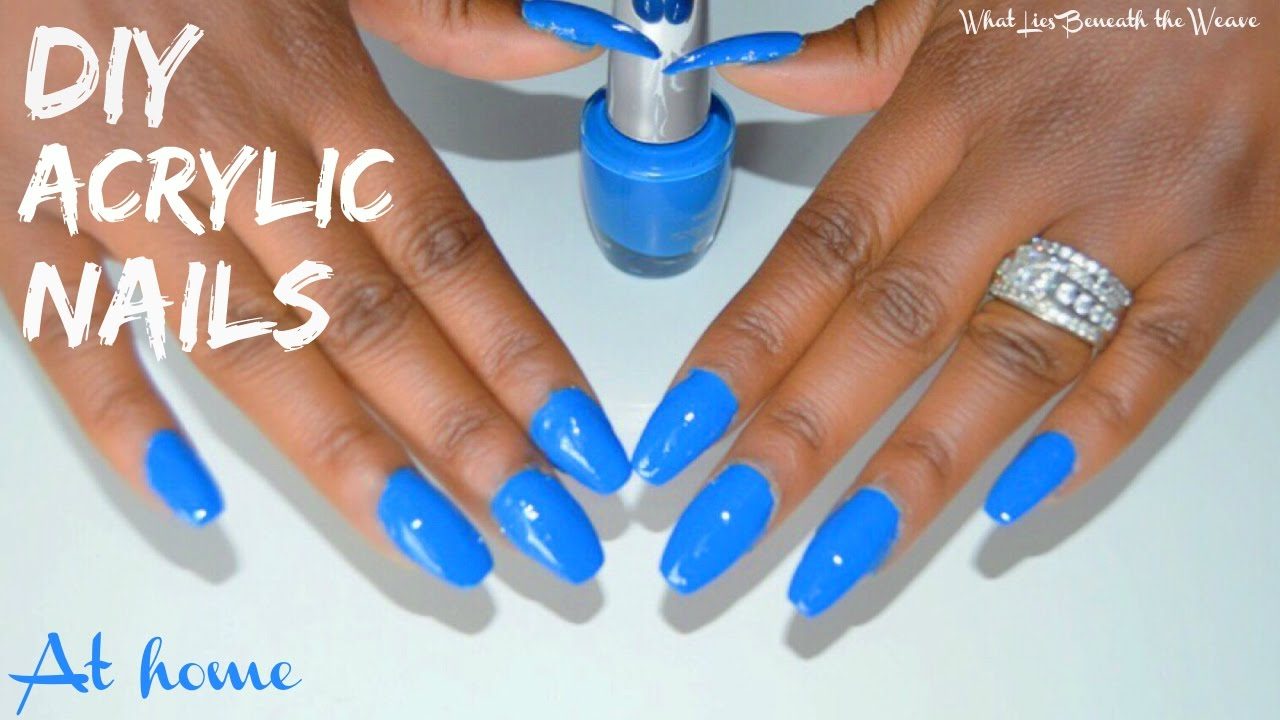diy acrylic nails home tutorial