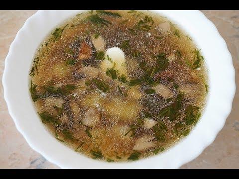 СУП с шампиньонами без мяса/грибной суп/mushroom soup
