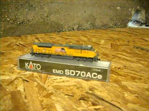 A comparison of 3 different scale SD70ACe's in N, HO & O.