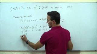 Teorema del resto SECUNDARIA (4ºESO) matematicas