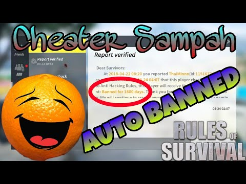 Mr. Cupu Cheater Sampah VS AUTO BANNED! Guys' Rules of Survival