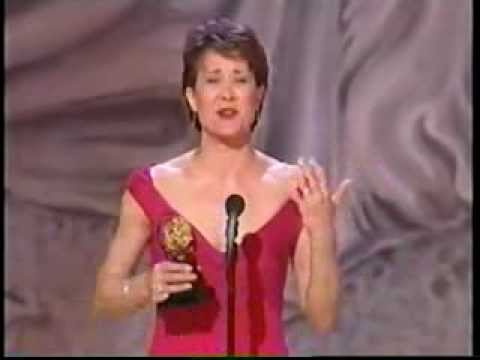 Karen Ziemba wins 2000 Tony Award for Best Featured Actress in a Musical