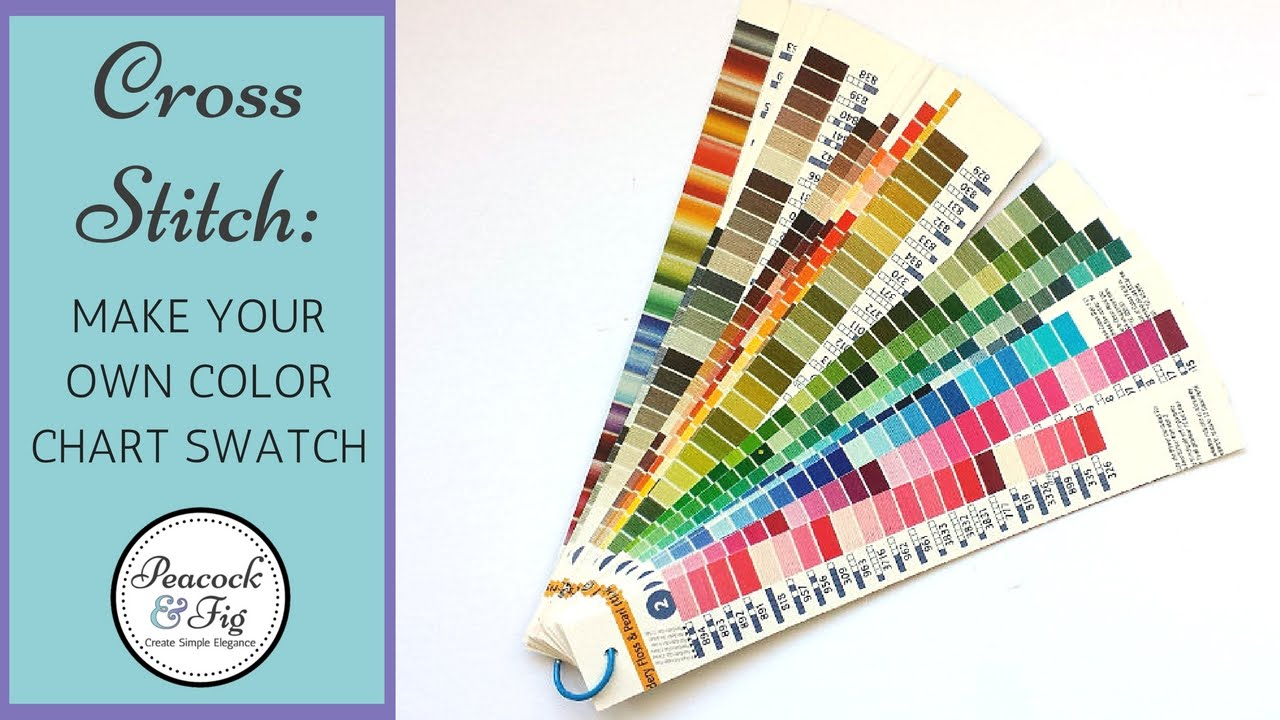 Dmc Color Chart Project Make Your Own Embroidery Floss Swatch