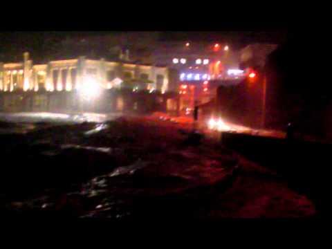 Vagues submersion à Biarritz - 6 Janvier 2014