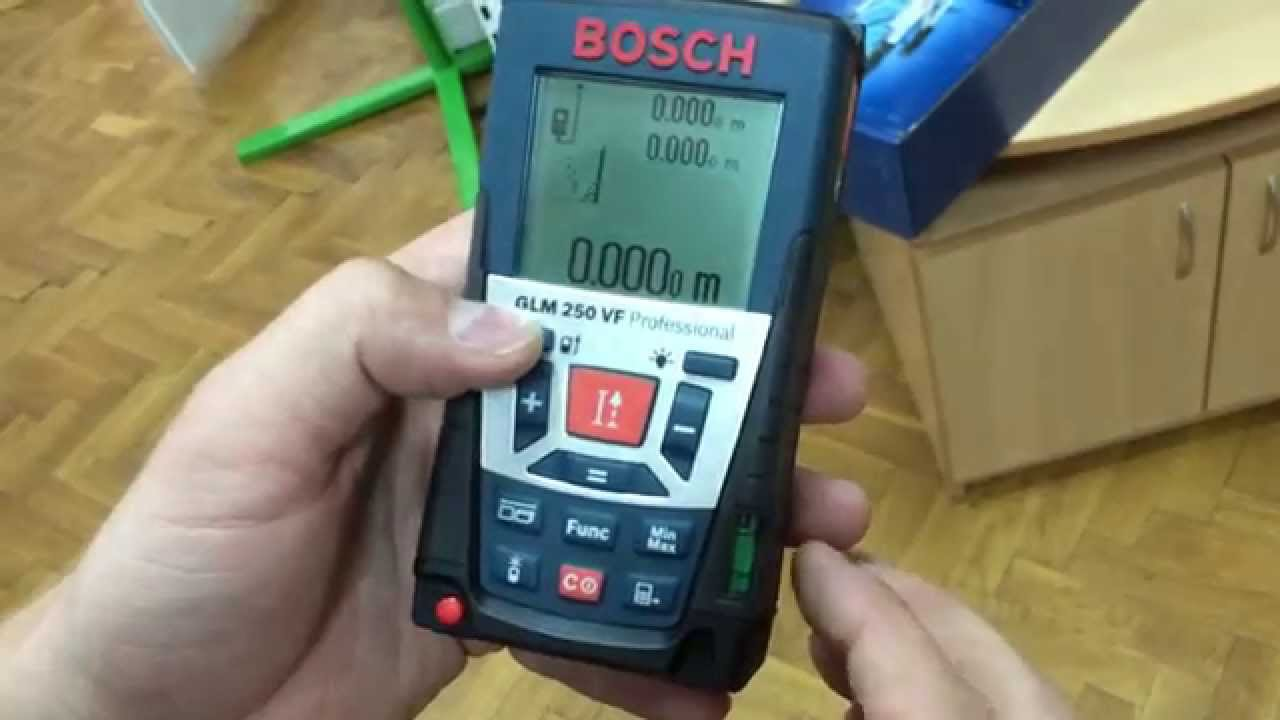 Laser Entfernungsmesser Bosch Glm 250 Vf : РоботунОбзор лазерный дальномер bosch glm vf youtube