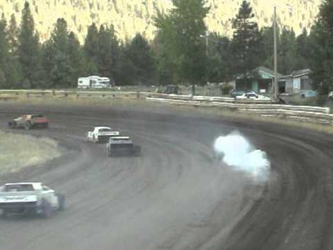 Eagle Track Raceway Modified Heat Race Part 2 Sept 20th 2014