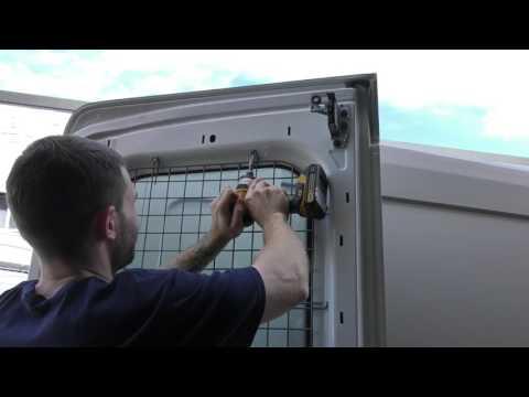 American Van Equipment - Installation Of Rear Door Window Screens On A Ford Transit Van