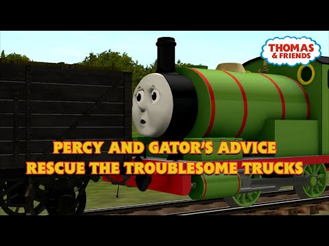 Percy and Gator's Advice Rescue the Troublesome Trucks | Trainz Clip