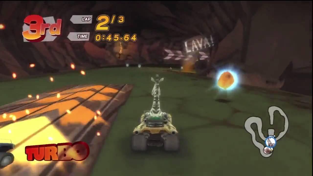 Madagascar Kartz PS3 100cc race Volcano YouTube