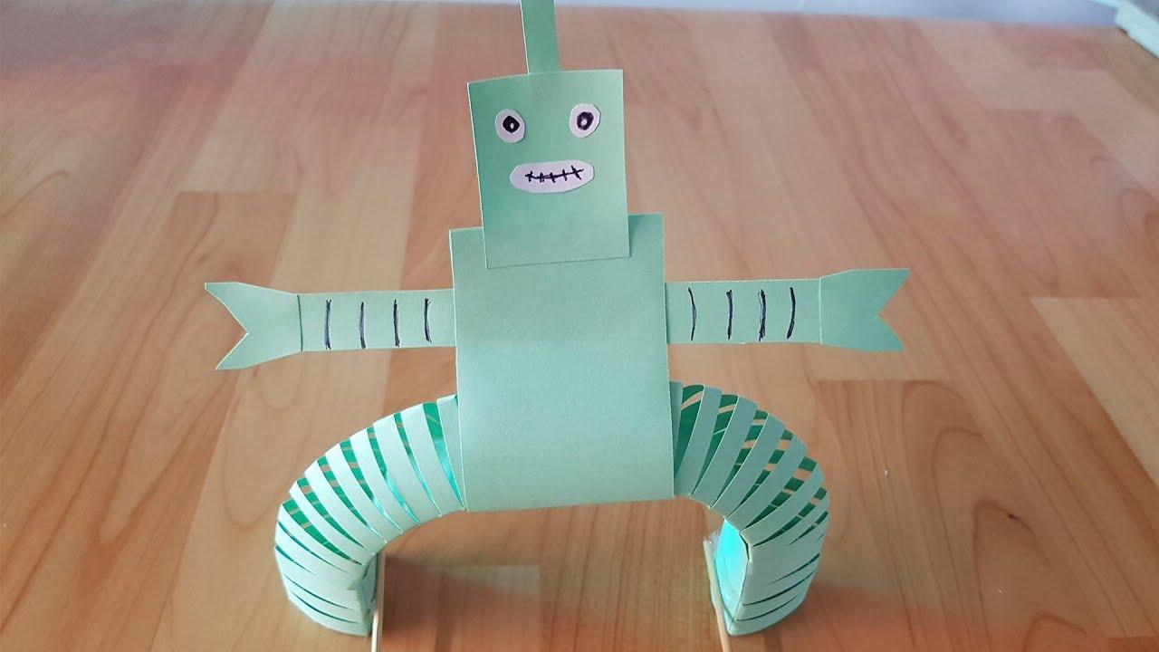 como hacer un robot de papel para ni os un robot de papel cartulina youtube. Black Bedroom Furniture Sets. Home Design Ideas