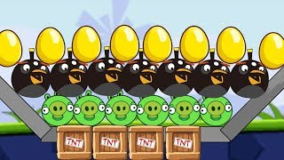 Angry Birds Bomb 2 - BOMBER BIRD PROTECT GOLDEN EGG KICK BAD PIGGIES!!