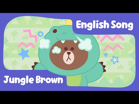 [BrownTV] Jungle Brown   Nursery Rhymes   Line Friends Kids Song   CHINESE SUBTITLE