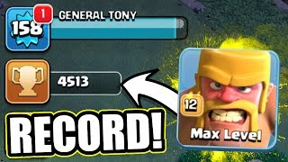 NEW RECORD BREAKING TROPHY PUSH! 🔥 Clash Of Clans 🔥 BEST STRATEGY FOR 4500+ !