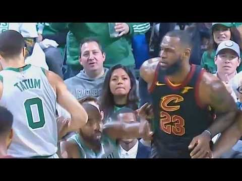 LeBron James Helps Kyrie Irving Get Up After He Falls! Cavaliers vs Celtics February 11, 2018