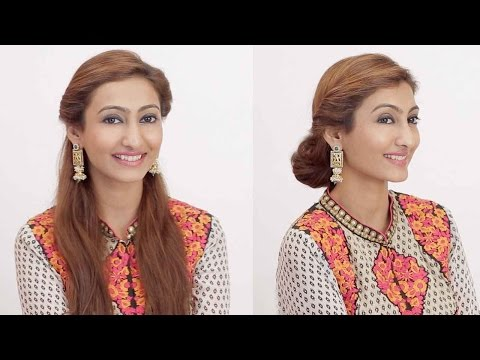 2 Hairstyles For Indian Wedding Occasions | Day to Night