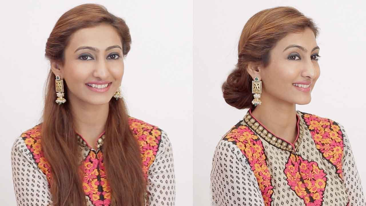 2 hairstyles for indian wedding occasions day to night youtube