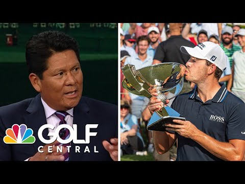 Patrick Cantlay holds off Jon Rahm to win first FedExCup Championship   Golf Central   Golf Channel