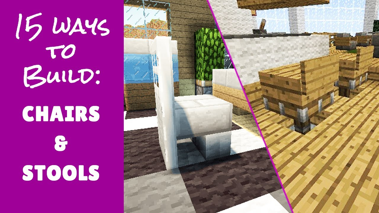Minecraft furniture seat chair and stool design for How to design furniture