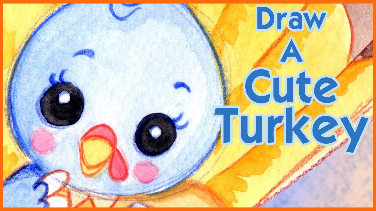 how to draw a cute turkey kawaii step by step narrated youtube